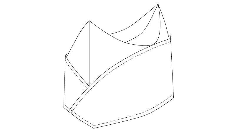 BC-6942 チトセ(アルベ) ブランチGI帽 ハンガーイラスト・線画