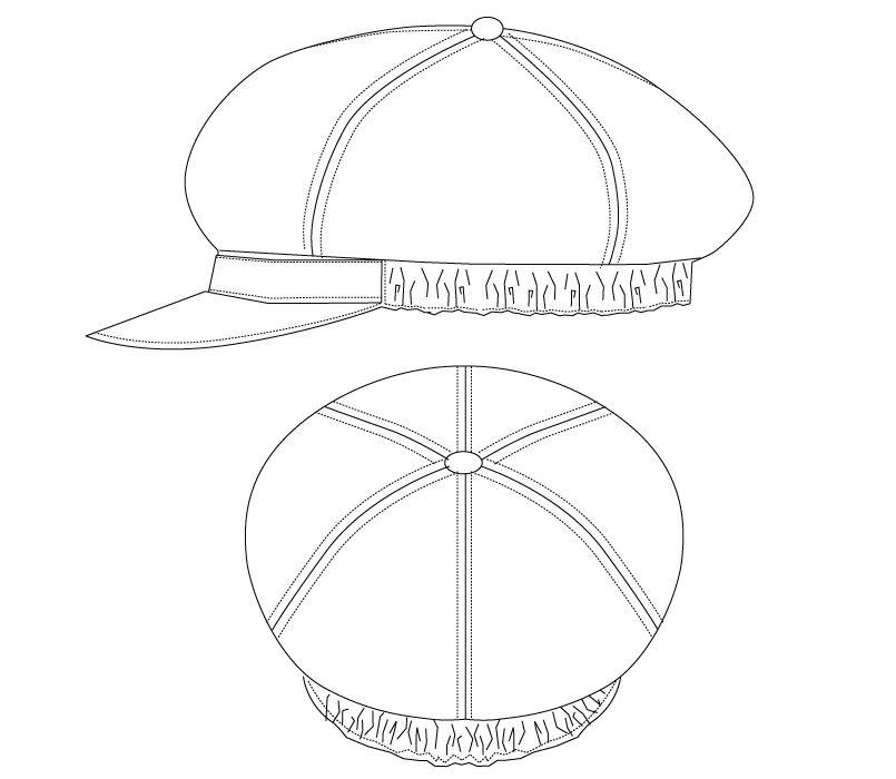 BC-7133 チトセ(アルベ) ハンチングキャップ(男女兼用) ハンガーイラスト・線画