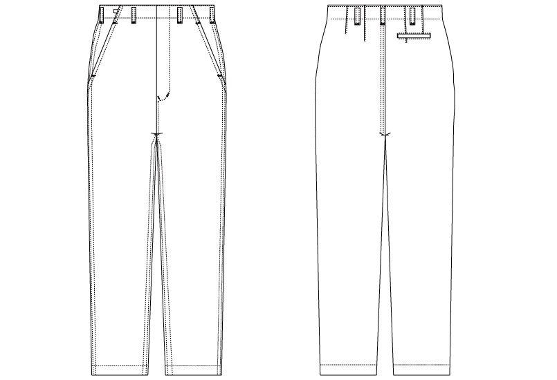 CA-420 チトセ(アルベ) 厨房ズボン(男性用) ハンガーイラスト・線画