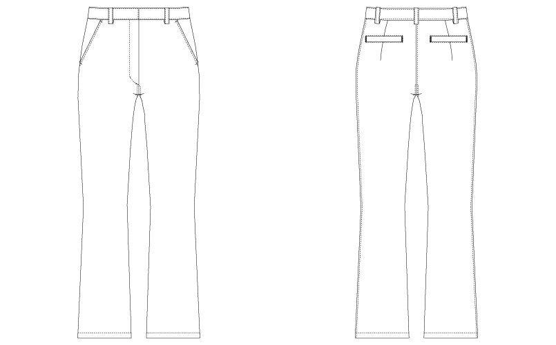 CL-0013 キャララ(Calala) パンツ(女性用) ハンガーイラスト・線画