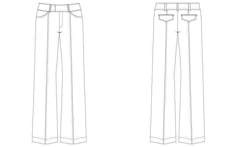 CL-0083 キャララ(Calala) パンツ(女性用) ハンガーイラスト・線画
