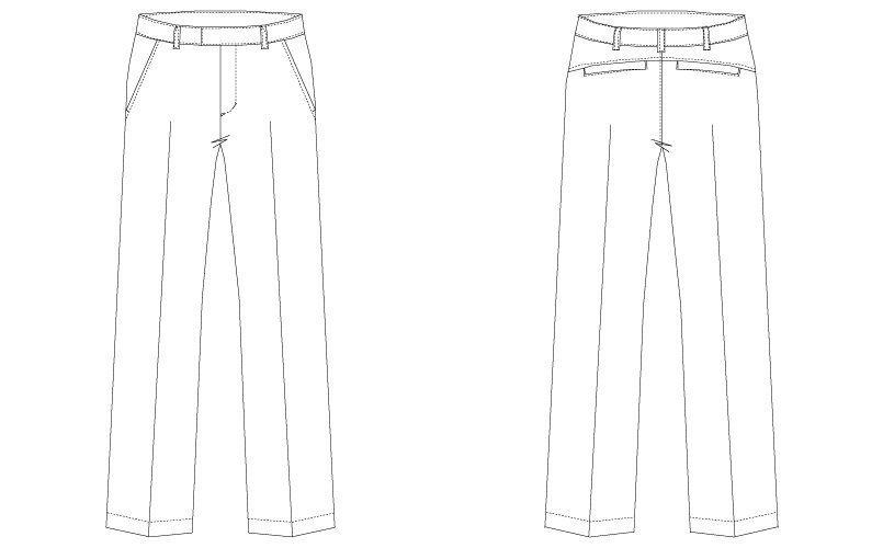 CL-0133 キャララ(Calala) パンツ(女性用) ハンガーイラスト・線画