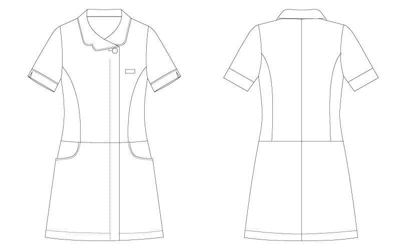CL-0242 キャララ(Calala) チュニック 前ファスナー(女性用) ハンガーイラスト・線画