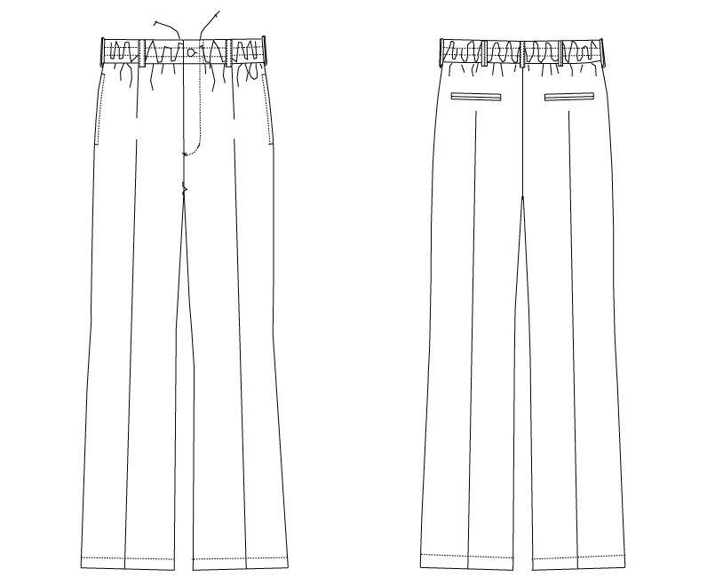 DN-6861 チトセ(アルベ) パンツ(男女兼用) ハンガーイラスト・線画