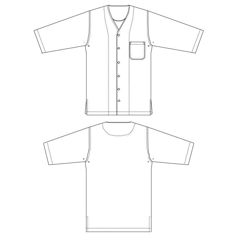 DN-7735 チトセ(アルベ) ダボシャツ/dradnats(男女兼用) ハンガーイラスト・線画