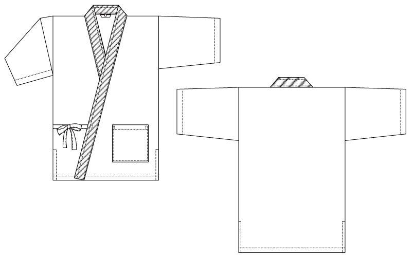G-5228 チトセ(アルベ) 甚平(男性用) ハンガーイラスト・線画