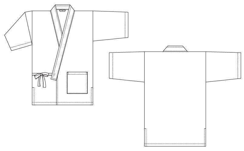 G-6874 チトセ(アルベ) 甚平(ジンベイ)(男女兼用) ハンガーイラスト・線画