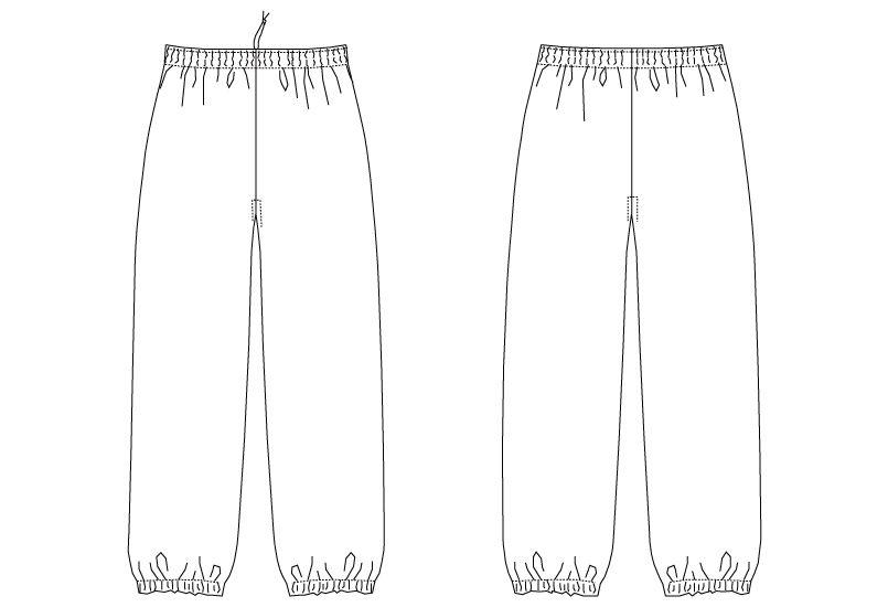 G-6875 チトセ(アルベ) 和風パンツ(男女兼用) ハンガーイラスト・線画