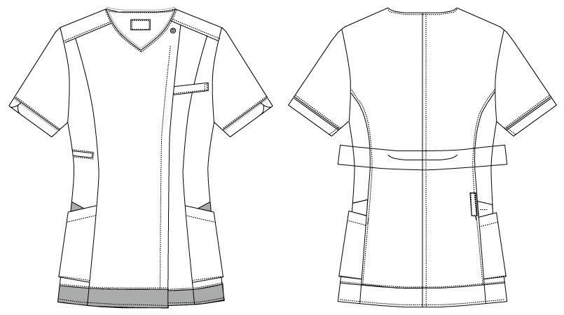MK-0004 ミッシェルクラン(MICHEL KLEIN) ジャケット(女性用) ハンガーイラスト・線画
