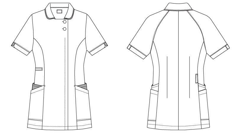 MK-0005 ミッシェルクラン(MICHEL KLEIN) ジャケット(女性用) ハンガーイラスト・線画