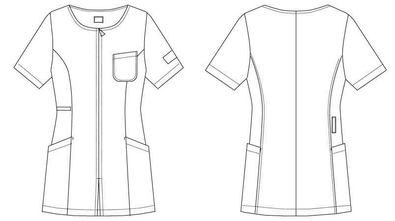 MK-0007 ミッシェルクラン(MICHEL KLEIN) ジャケット(女性用) ハンガーイラスト・線画