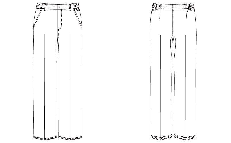 MK-0008 ミッシェルクラン(MICHEL KLEIN) パンツ(女性用) ハンガーイラスト・線画