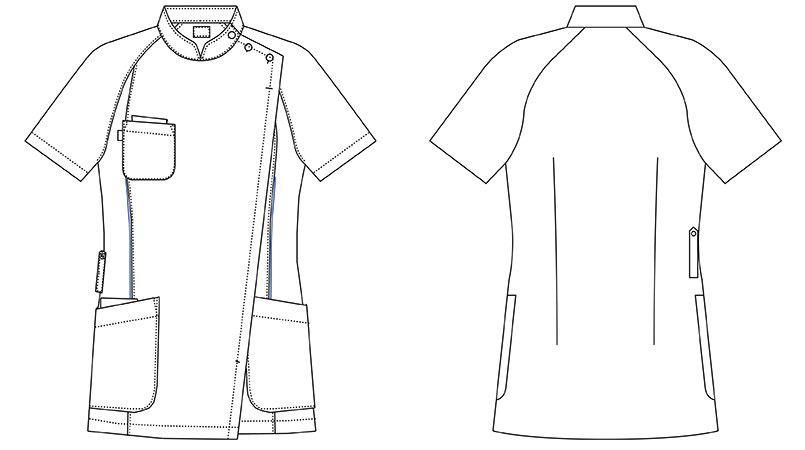 MZ-0048 ミズノ(mizuno) レディースジャケット(女性用) ハンガーイラスト・線画