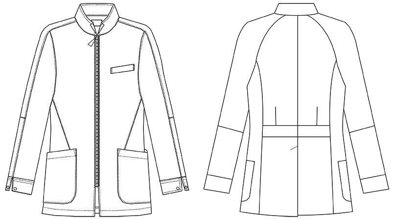 MZ-0056 ミズノ(mizuno) メンズハーフコート(男性用) ハンガーイラスト・線画