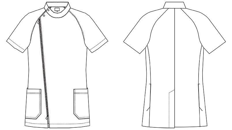 MZ-0066 ミズノ(mizuno) メンズケーシージャケット(男性用) ハンガーイラスト・線画