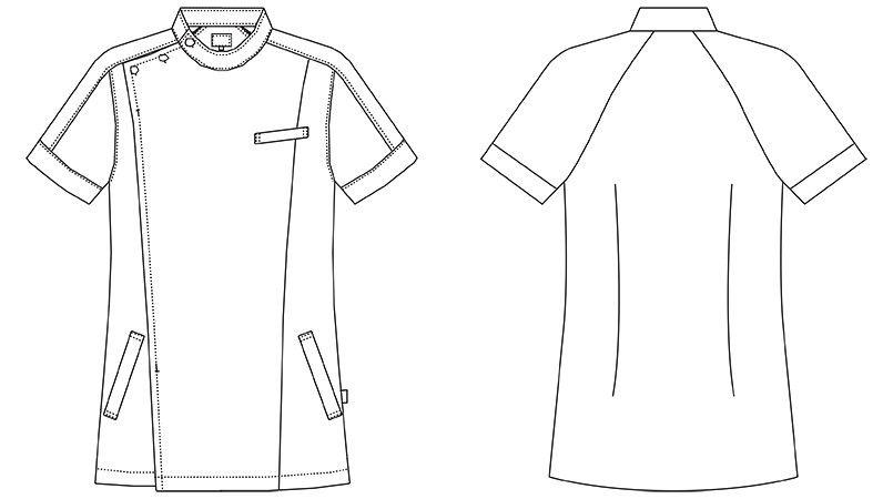 MZ-0069 ミズノ(mizuno) ケーシージャケット(男女兼用) ハンガーイラスト・線画
