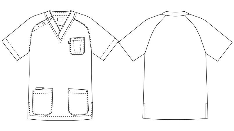 [在庫限り/返品交換不可]MZ-0084 ミズノ(mizuno) ニットスクラブ(男女兼用) ハンガーイラスト・線画
