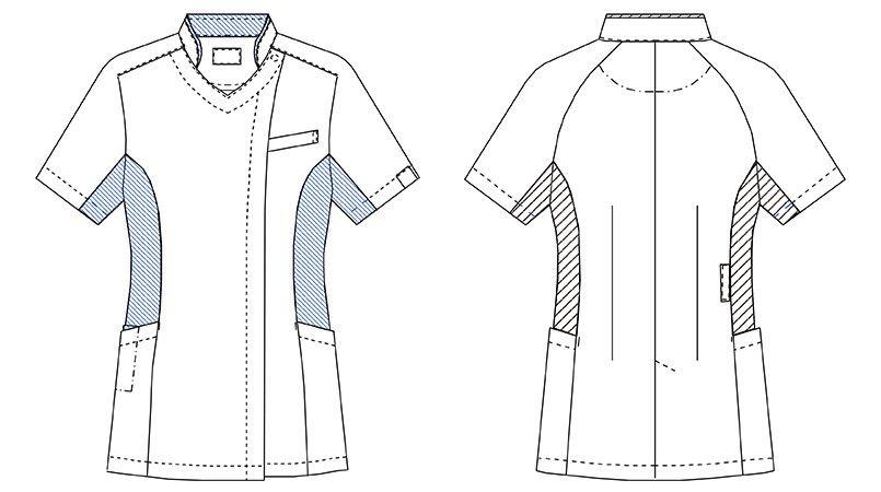 MZ-0128 ミズノ(mizuno) クールマックス ケーシージャケット(女性用) ハンガーイラスト・線画