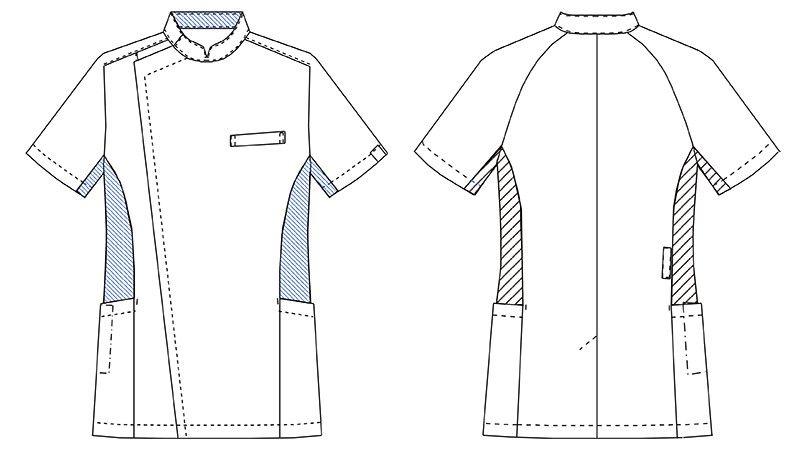 MZ-0129 ミズノ(mizuno) クールマックス メンズケーシージャケット(男性用) ハンガーイラスト・線画