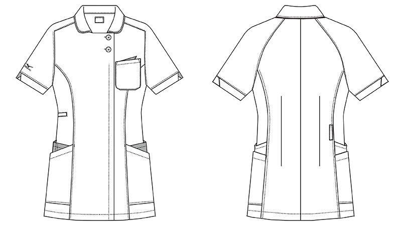 MZ-0160 ミズノ(mizuno) ジャケット(女性用) ハンガーイラスト・線画