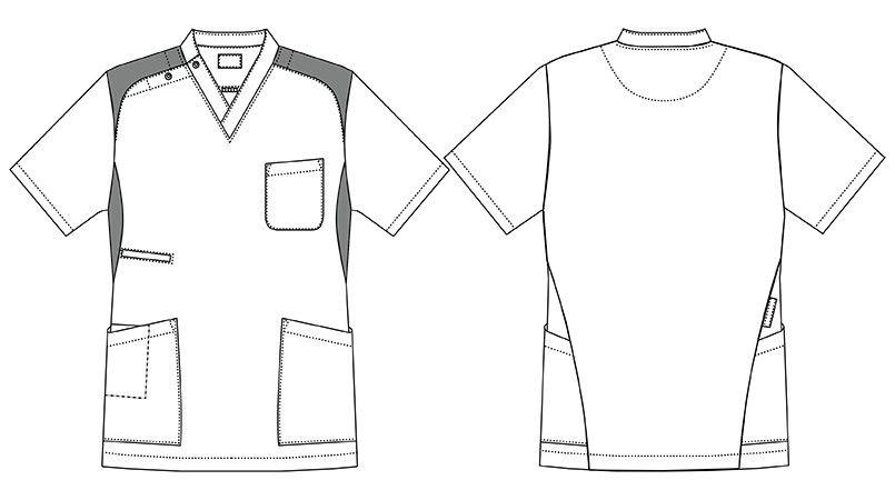 MZ-0164 ミズノ(mizuno) ストレッチジャケット(男性用) ハンガーイラスト・線画