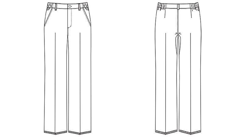 MZ-0166 ミズノ(mizuno) パンツ(女性用) ハンガーイラスト・線画