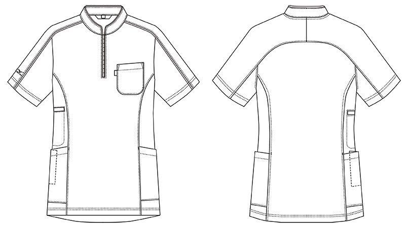 MZ-0170 ミズノ(mizuno) ニットシャツ(男女兼用) ハンガーイラスト・線画