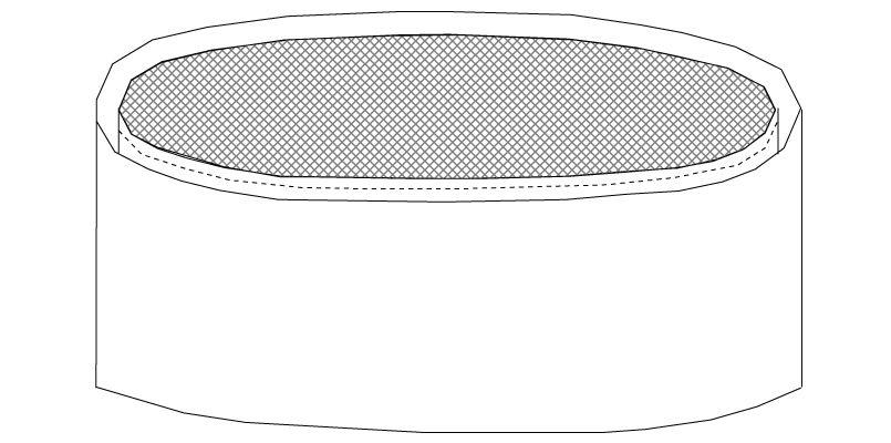 No7600 チトセ(アルベ) 和帽子(天メッシュ) ハンガーイラスト・線画