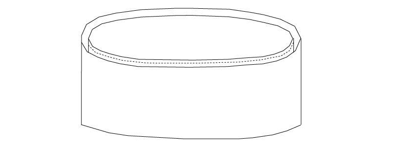 No7800 チトセ(アルベ) 和帽子 ハンガーイラスト・線画