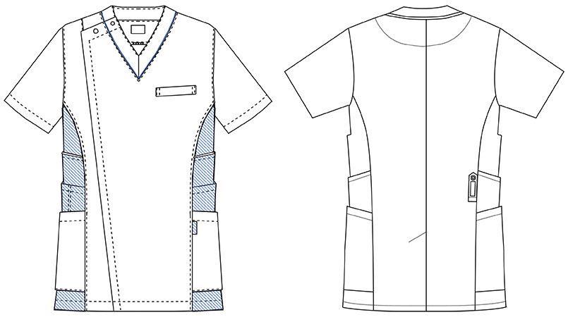 UN-0045 UNITE(ユナイト) ケーシー(男性用) ハンガーイラスト・線画