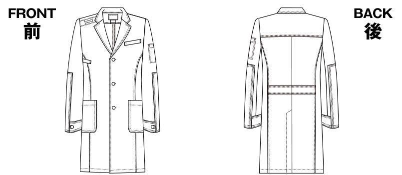 1537PR FOLK(フォーク)×Dickies メンズシングルコート(男性用) ハンガーイラスト・線画