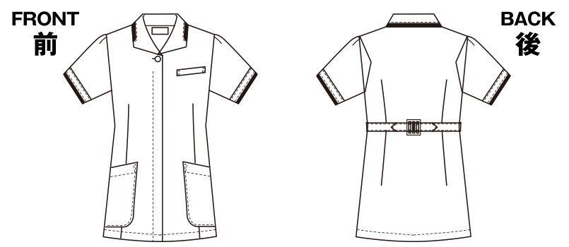 2005CR FOLK(フォーク) チュニック(女性用) ハンガーイラスト・線画