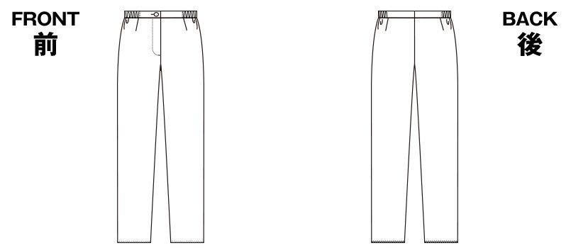 2917 FOLK(フォーク) レディース ストレートパンツ 股下フリー(女性用) ハンガーイラスト・線画
