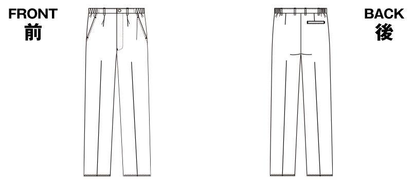 5010CR FOLK(フォーク) メンズストレートパンツ 股下フリー(男性用) ハンガーイラスト・線画