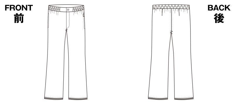 5016EW FOLK(フォーク) パンツ(男性用) ハンガーイラスト・線画