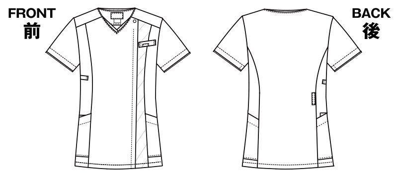 7023SC FOLK(フォーク) レディス ジップスクラブ(女性用) ハンガーイラスト・線画