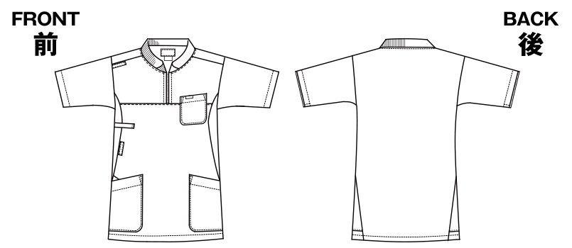 7037SC FOLK(フォーク) ニット付きプルオーバージャケット(男女兼用) ハンガーイラスト・線画