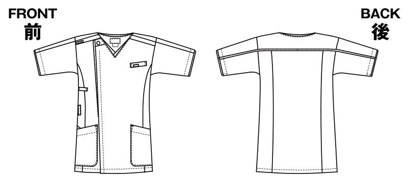 7051SC FOLK(フォーク) メンズ ジップスクラブ(男性用) ハンガーイラスト・線画