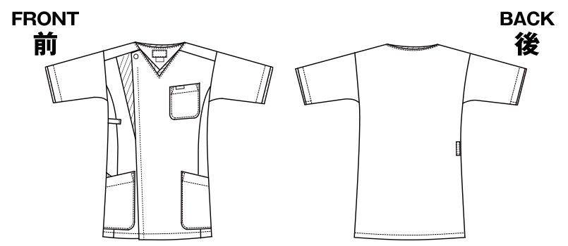 7053SC FOLK(フォーク) メンズ ジップスクラブ(男性用) ハンガーイラスト・線画