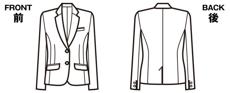 FJ15632 nuovo(ヌーヴォ) [通年]ジャケット 無地 ハンガーイラスト・線画
