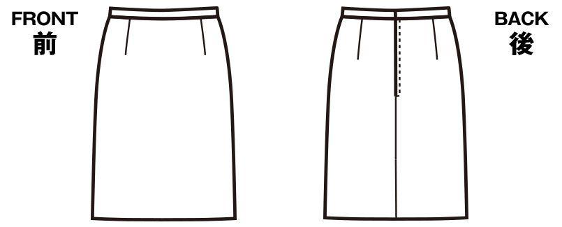 FS45780 nuovo(ヌーヴォ) [通年]スカート 無地 ハンガーイラスト・線画