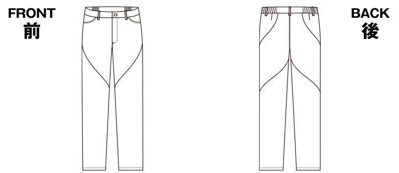 HI301 ワコール レディース スリムストレートパンツ(女性用) ハンガーイラスト・線画