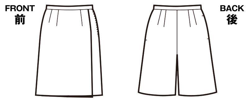 SC5000 nuovo(ヌーヴォ) [通年]キュロットスカート 無地 ハンガーイラスト・線画
