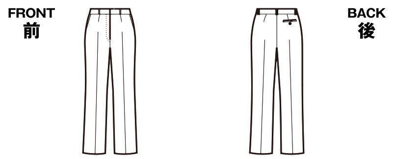 SP6003 nuovo(ヌーヴォ) [通年]パンツ ストレッチカルゼ 無地 ハンガーイラスト・線画