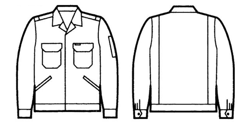 自重堂 3300 エコ製品制電ジャンパー(JIS T8118適合) ハンガーイラスト・線画