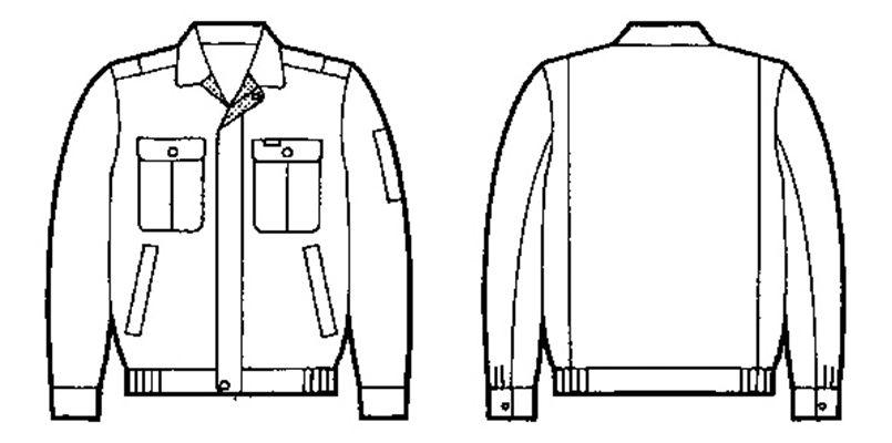 自重堂 34000 [春夏用]形態安定 長袖ブルゾン ハンガーイラスト・線画