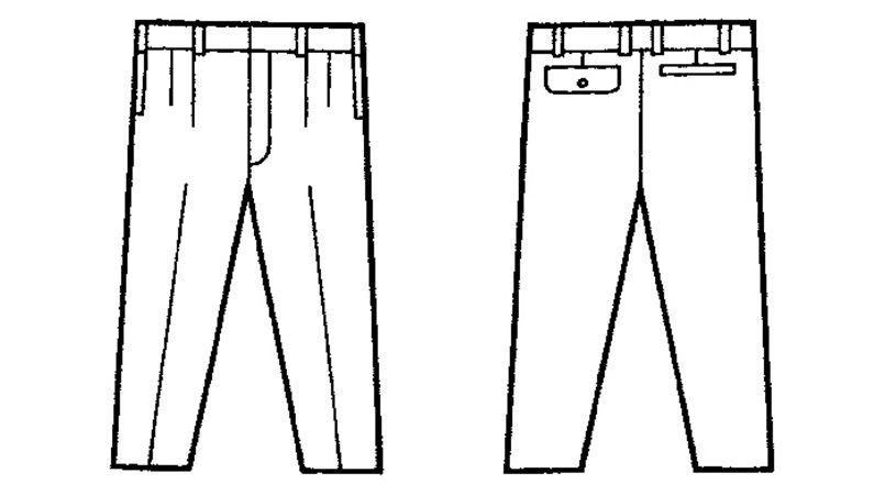 自重堂 34001 [春夏用]形態安定 ツータックパンツ ハンガーイラスト・線画