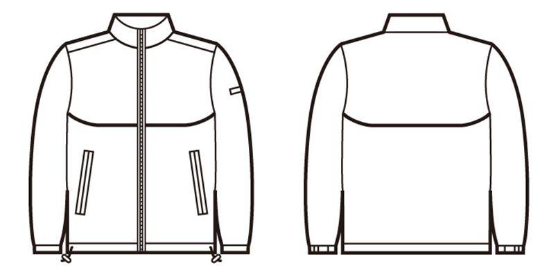 自重堂 40243 エコショートコート(フード付き) ハンガーイラスト・線画