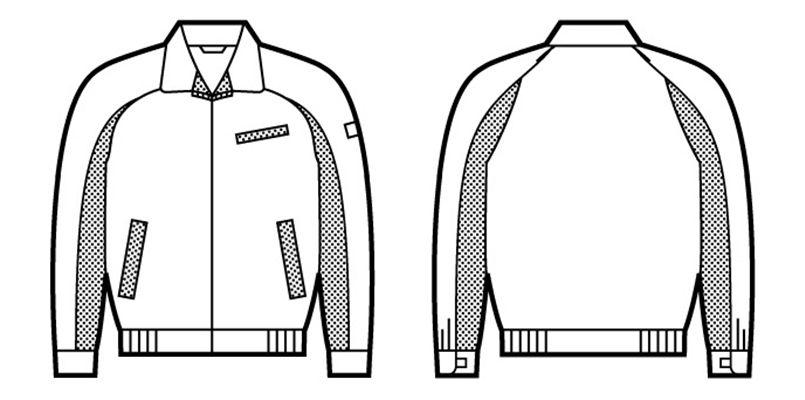 43820 自重堂 製品制電エコ 5バリューブルゾン(製品制電JIS T8118適合) ハンガーイラスト・線画
