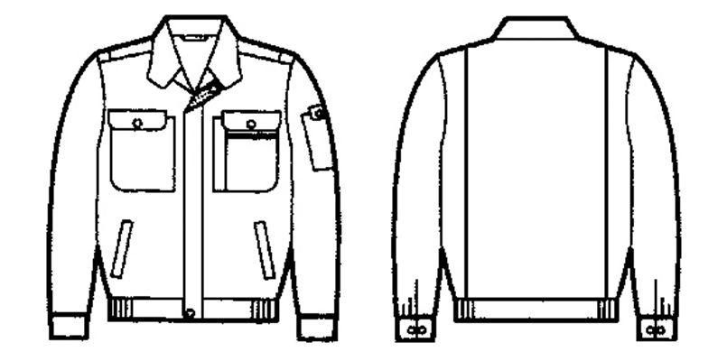 自重堂 44100 [春夏用]製品制電長袖ブルゾン(JIS T8118適合) ハンガーイラスト・線画